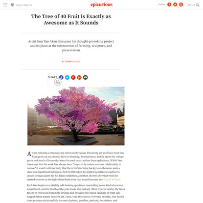 The Tree of 40 Fruit Is Exactly as Awesome as It Sounds | Epicurious.com