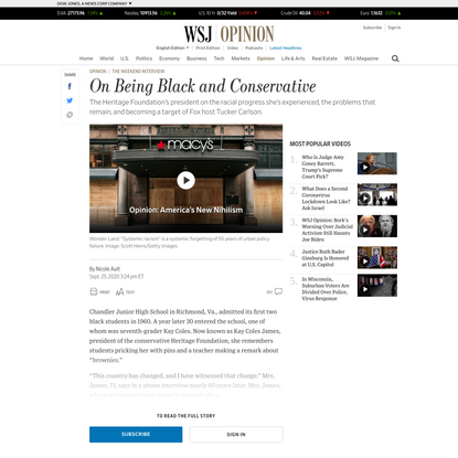 Opinion | On Being Black and Conservative