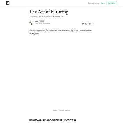 The Art of Futuring