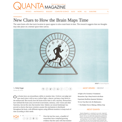 New Clues to How the Brain Maps Time | Quanta Magazine