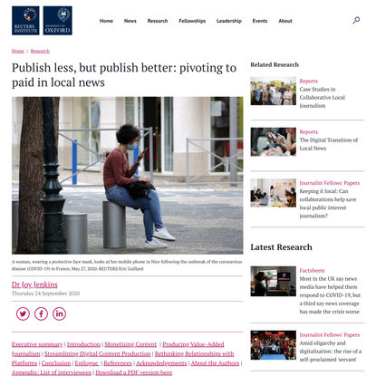 Publish less, but publish better: pivoting to paid in local news