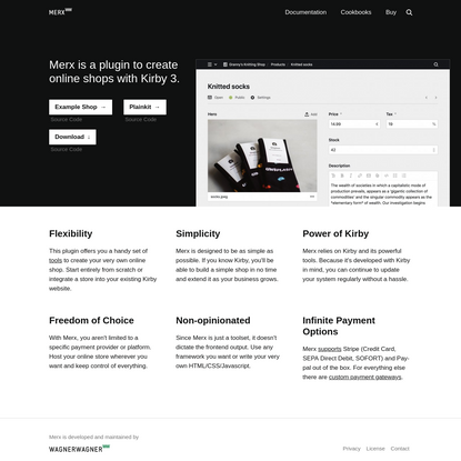 Merx - A toolset to create online shops with Kirby
