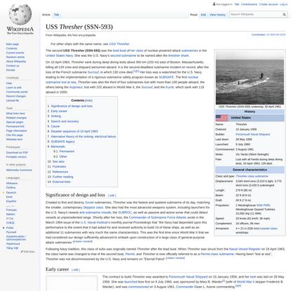 USS Thresher (SSN-593) - Wikipedia
