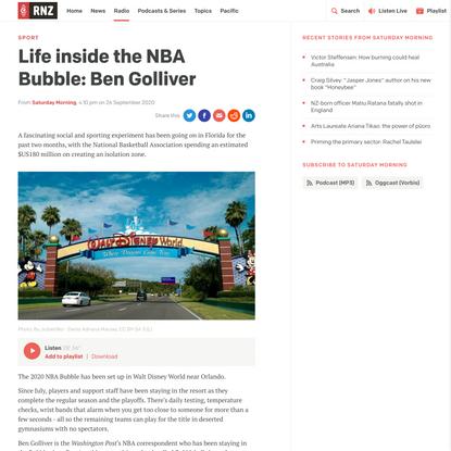 Life inside the NBA Bubble: Ben Golliver