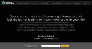 Building a Second Brain Course