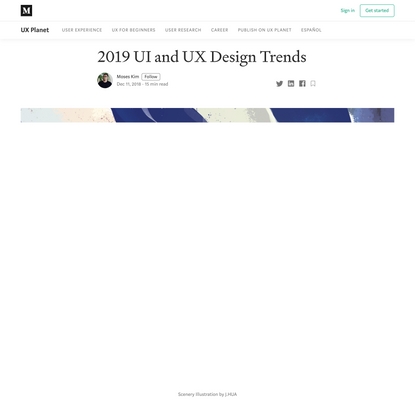 2019 UI and UX Design Trends