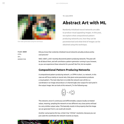 Abstract Art with ML