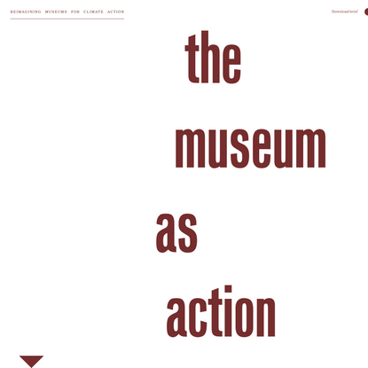 Reimagining Museums for Climate Action - Design competiton