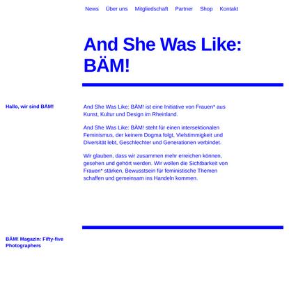 And She Was Like: BÄM! -