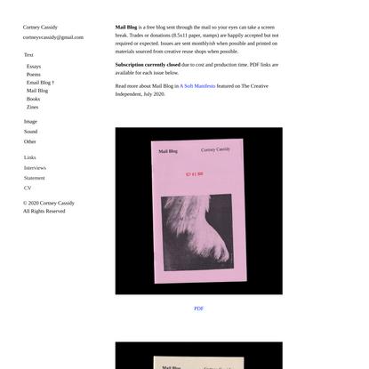 Mail Blog — Cortney Cassidy