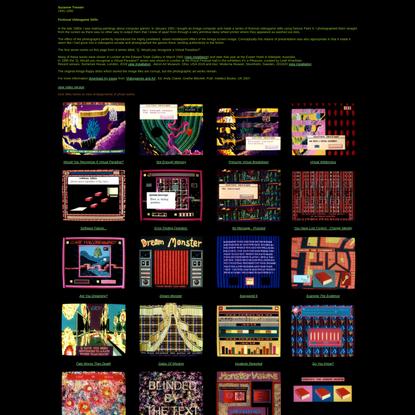 Suzanne Treister, Amiga Videogame Stills, 1991-1992
