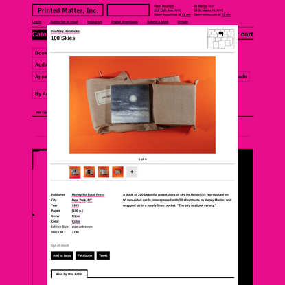 After Reasonable Research - A Table by Printed Matter - Printed Matter