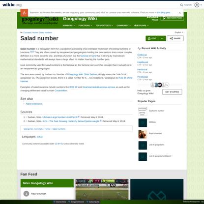 Salad number