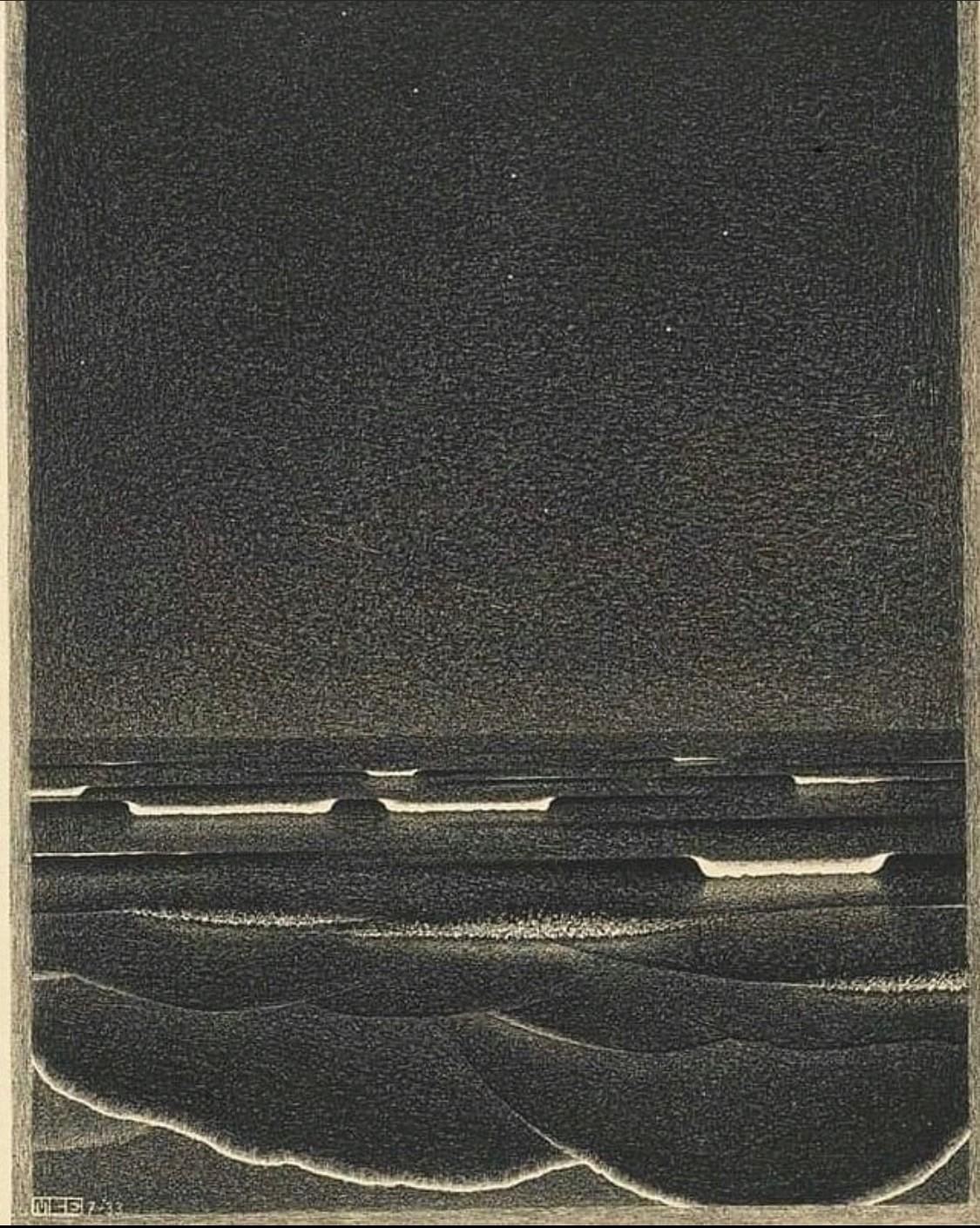 MC Escher, Phosphorescent Sea