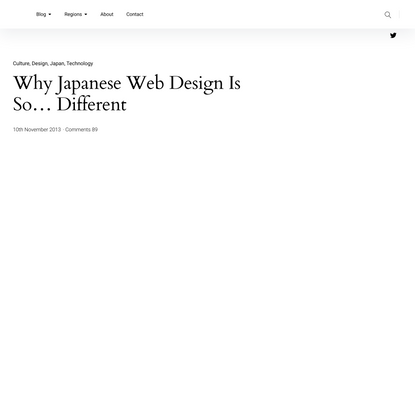 Why Japanese Web Design Is So Different – Cultural, Linguistic & Technical Factors – Randomwire