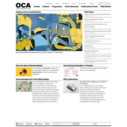 Office for Contemporary Art Norway: OCA