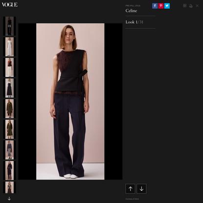 Celine Pre-Fall 2015 Fashion Show