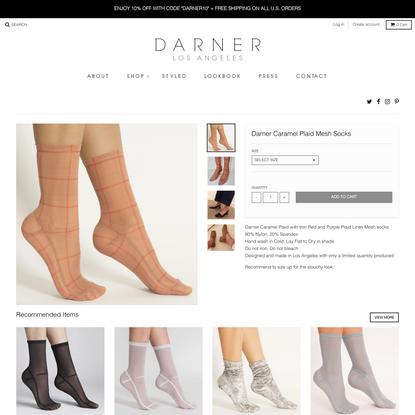 Darner Caramel Plaid Mesh Socks – Darner Socks