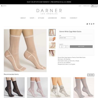 Darner White Cage Mesh Socks – Darner Socks
