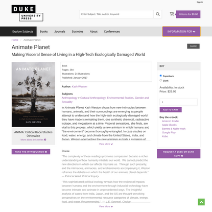 Duke University Press - Animate Planet