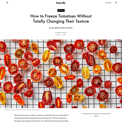 How to Freeze Tomatoes Without Totally Changing Their Texture