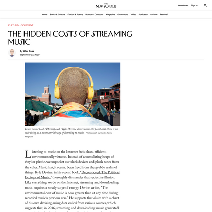 The Hidden Costs of Streaming Music