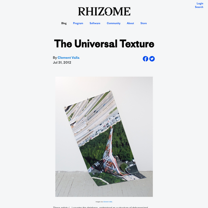 The Universal Texture