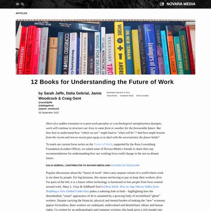 12 Books for Understanding the Future of Work   Novara Media