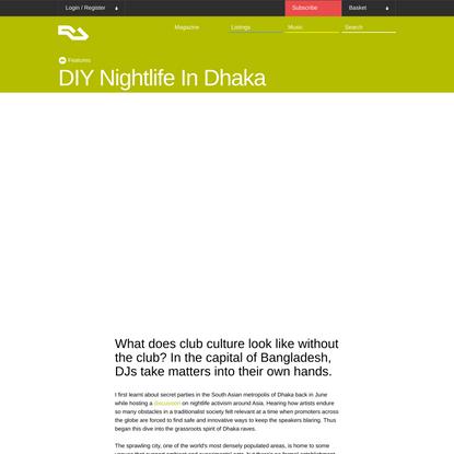 DIY Nightlife In Dhaka