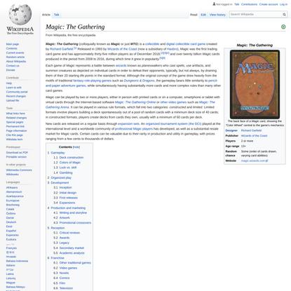 Magic: The Gathering - Wikipedia