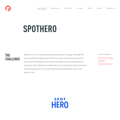 SpotHero work by Focus Lab®