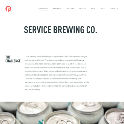 Service Brewing Co. work by Focus Lab®