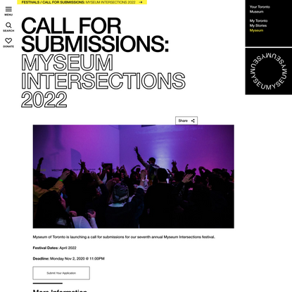 Myseum Intersections 2022: Call for Submissions