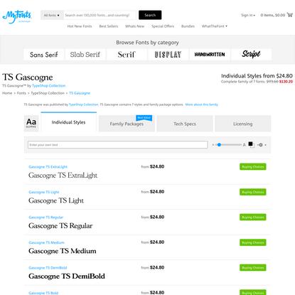 TS Gascogne Font | Webfont & Desktop | MyFonts