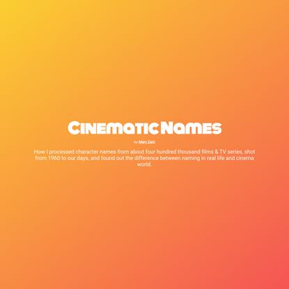 Cinematic names