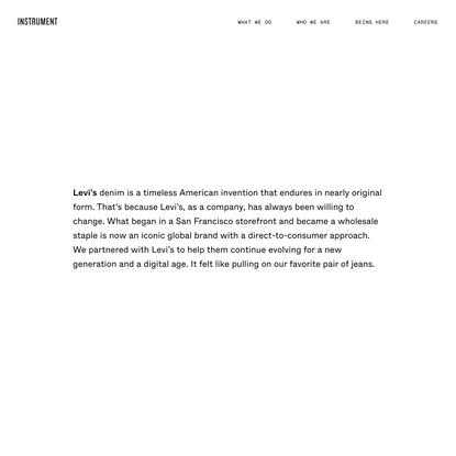 Instrument — Levi.com