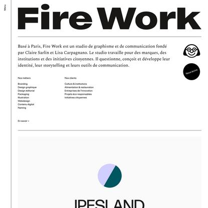 studio Fire Work, graphisme et branding