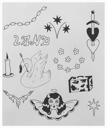 "handpoked tattoos on Instagram: ""LAND . #handpokedtattoo"""