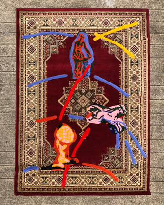 "Tommy Lhomme on Instagram: """"Danaïde, cheval, Atlas"" Tufted rug in traditional rug, wool 290x200cm, 2020 !…"""