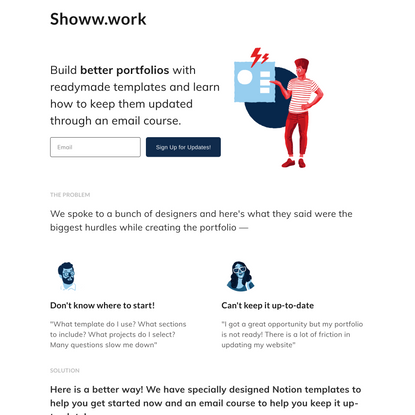 Show your Work - Notion Portfolio Templates