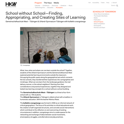 School without School—Finding, Appropriating, and Creating Sites of Learning
