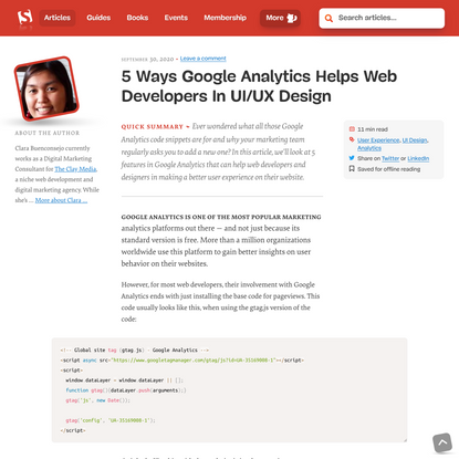 5 Ways Google Analytics Helps Web Developers In UI/UX Design — Smashing Magazine