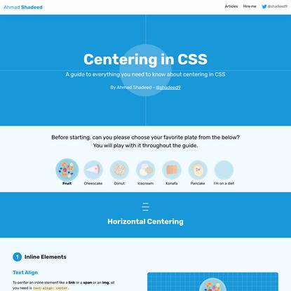 Learn CSS Centering - Ahmad Shadeed