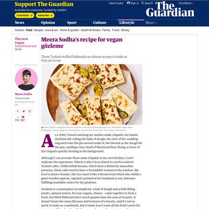 Meera Sodha's recipe for vegan gözleme