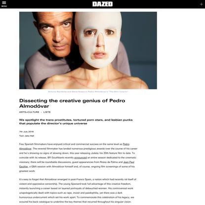 Dissecting the creative genius of Pedro Almodóvar