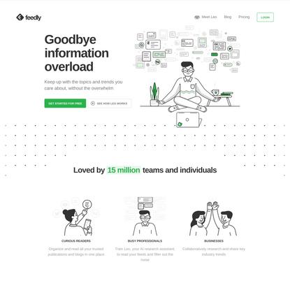 Feedly – Goodbye information overload