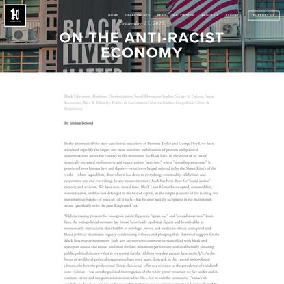 On the Anti-Racist Economy — Hampton Institute