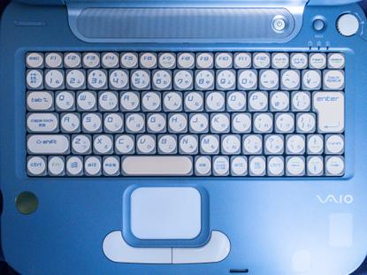 Sony Vaio PCG-QR3 (2002)'s keyboard