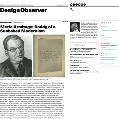 Unusual Suspects: Merle Armitage: Daddy of a Sunbaked Modernism