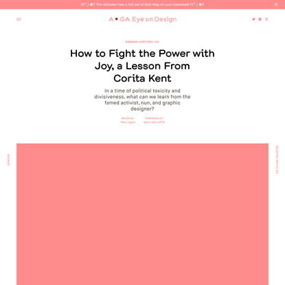 How to Fight the Power with Joy, a Lesson From Corita Kent